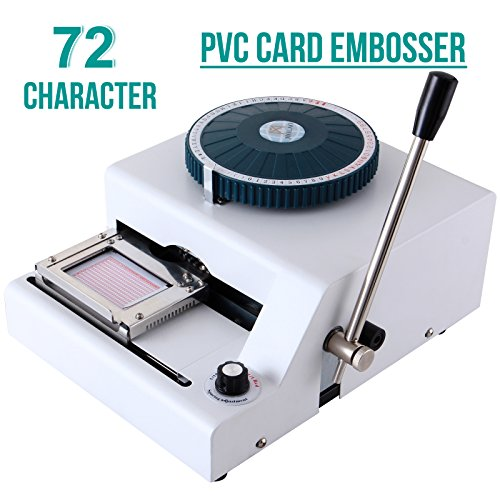 SUNCOO Embossing Machine Letter Manual Card Embosser Stamping PVC Machine 72 Character Credit Card Embossing by SUNCOO (Image #3)
