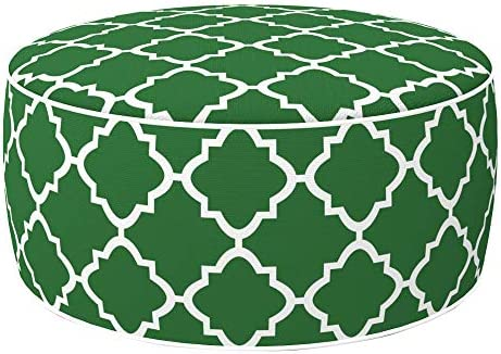 Aktive 79032 - Puff hinchable Ottoman, poliéster hilado, repele el agua, 53 x 23 cm, mosaico verde