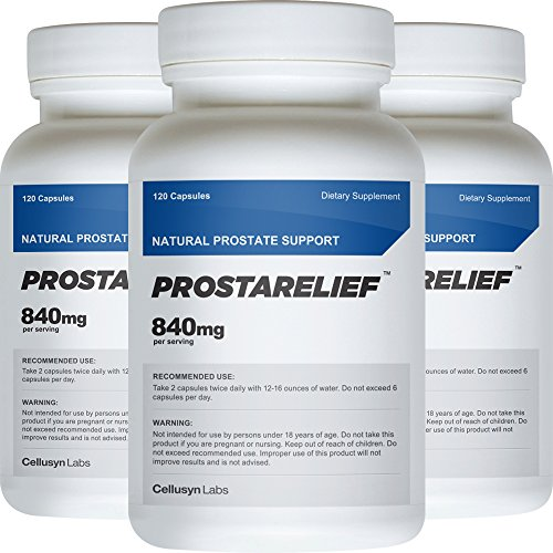 ProstaRelief (3 Pack) - All Natural Supplement to Promote Prostate Health - Safe and Natural Prostate Support Ingredients by Cellusyn