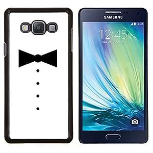 Qstar Arte & diseño plástico duro Fundas Cover Cubre Hard Case Cover para Samsung Galaxy A7 A7000 (Minimalista Tuxedo Bowtie)