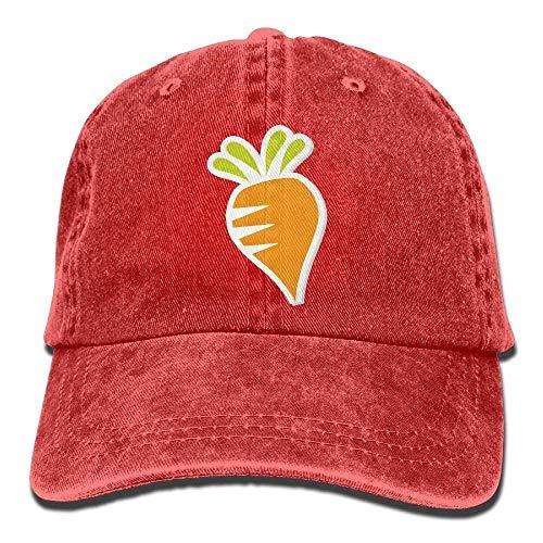 JHDHVRFRr Hat Carrot Cartoon Denim Skull Cap Cowboy Cowgirl Sport Hats for Men Women