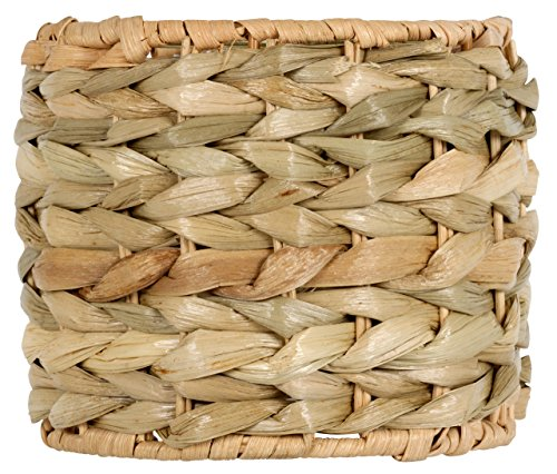 Upgradelights 5 Inch Clip On Seagrass Chandelier Lamp Shade 5x5x4 ()