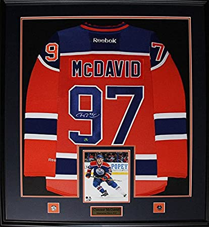 on sale 8c317 0e78f Connor McDavid Edmonton Oilers Signed Jersey NHL Hockey ...