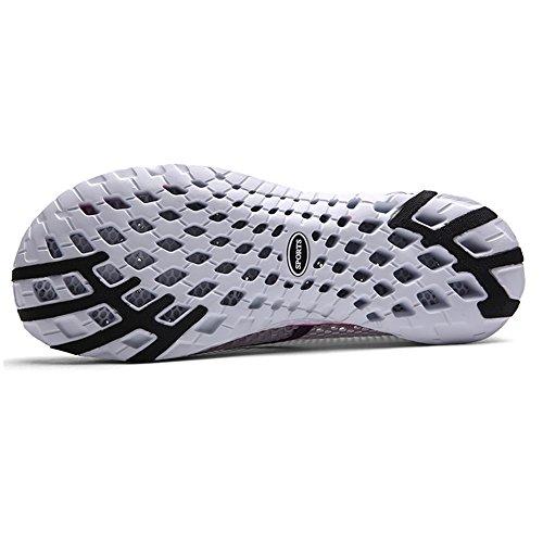 Quicksilk Frauen schnell trocknende Mesh Slip auf Wasser Schuhe Grau