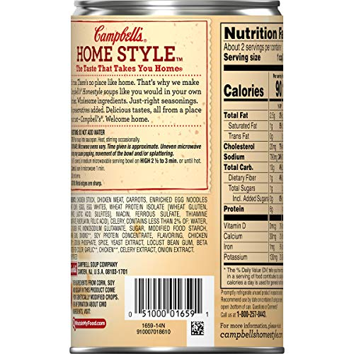 Buy canned chicken noodle soup