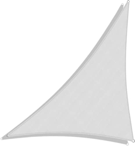 Windscreen4less Terylene Waterproof Sun Shade Sail UV Blocker Triangle Sunshade Patio Canopy Sail 23' x 23' x 32.5'