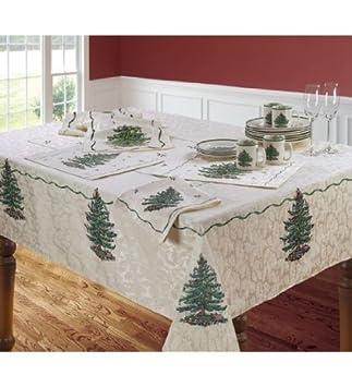 Spode Ivory Christmas Tree Tablecloth 60 X 120