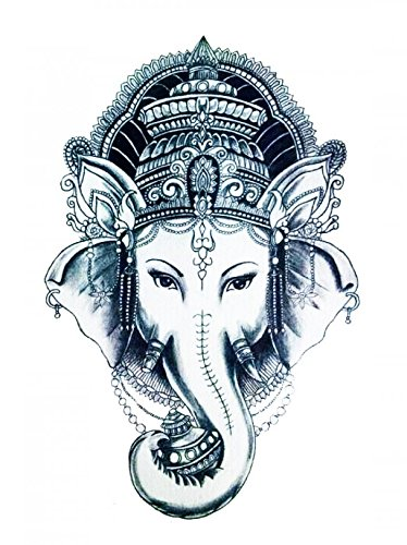 GGSELL Halloween Tattoo for men and women elephant queen temporary tattoo (Halloween Elephant Makeup)