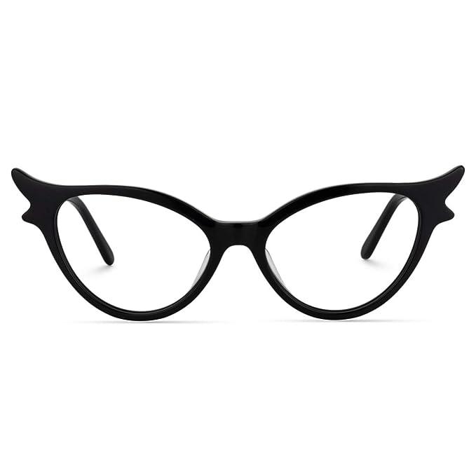 Amazon.com: Zeelool - Gafas de gato con diseño vintage, sin ...