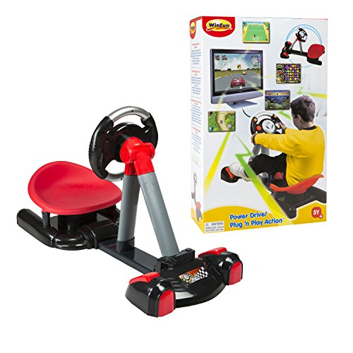 CP Toys – Plug and Play Virtual Driver Interactive Console Game – Features 30 Exciting Video Games – Ages 5+