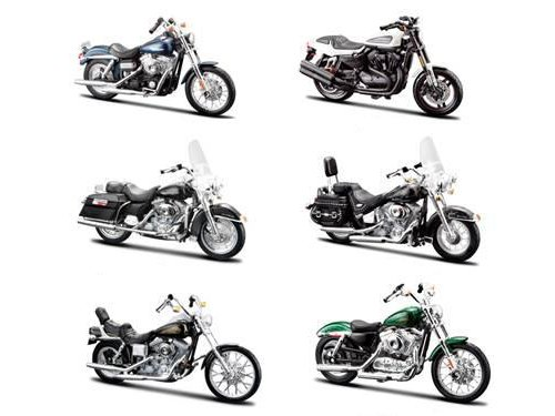 6 Piece Harley Davidson Motorcycle 6pc Set Series 32 1/18 by Maisto ()