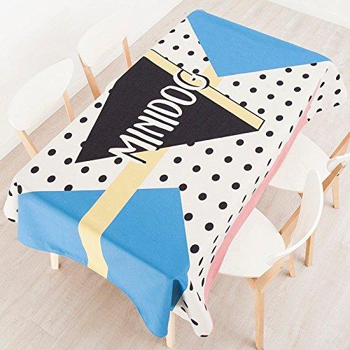 140 * 200 cm beige azul negro lunares Instagram mantel algodón ...