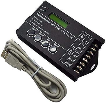 Meiyiu TC420 TC421 Tiempo WiFi WiFi Controlador LED Regulador RGB Acuario Temporizador de iluminaci/ón TC420