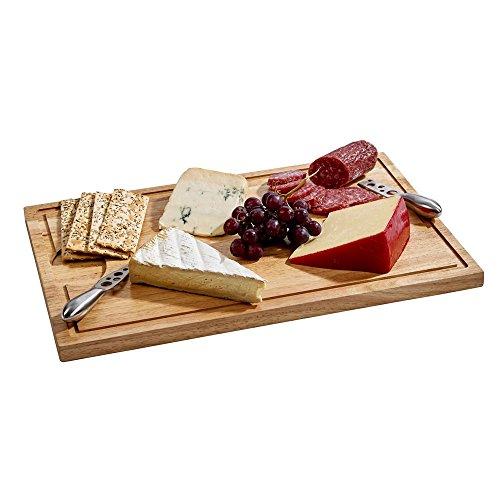 Rubberwood Board - Cutting Board with Well 18