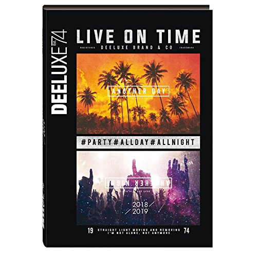 OBERTHUR - 1 Agenda Journalier DEELUXE 74 LIVE ON TIME - Sept 2018 à Sept 2019-12 x 17 cm 61599