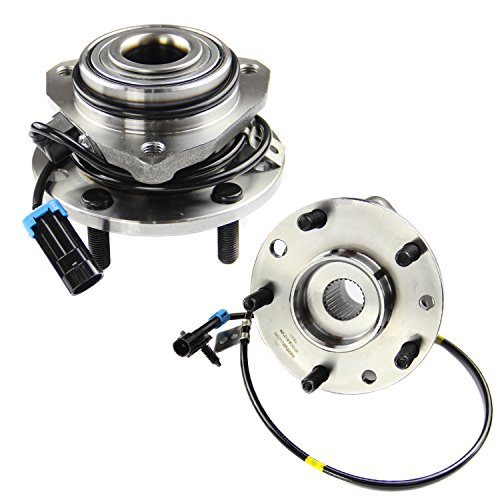 (MOTORMAN 513124 Front ABS Wheel Hub and Bearing Set - Both Left and Right - Pair of)