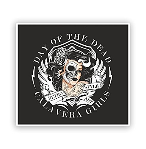 Day of The Dead Vinyl Stickers Halloween -