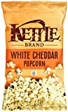 Kettle Brand Popcorn, White Cheddar, 5-Ounce Bags (Pack of 6) (Packaging may Vary)