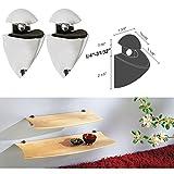 Dolle Splash Chome Adjustable Glass or Wood Shelf Bracket - Pair