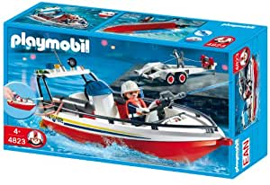 Playmobil 626053 - Bomberos Bote Con Remolque