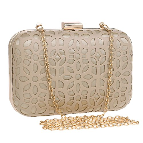 Oro Colore Ladies Evening da Nero PU Bag Bag Dress Bag sera Fly Dress Fashion Borsa Banquet Clutch Evening Cw1qwFT