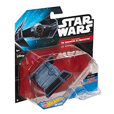 Hot Wheels Star Wars Darth Vader's Tie Advanced X1 Prototype Die-Cast Vehicle: Toys & Games