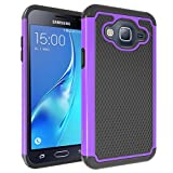Case GALAXY SKY Drop Protection Slim Fit Matte Texture Shock Protection Cover Galaxy Sky Case J3/J3 V Case Galaxy Sol Case Black Purple