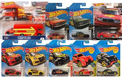 (Hot Wheels Real Riders Car Culture Teamsport 6/6 MOMO Racing Super Bundle 10pk Cars 1 Transport Truck w/Mercedes, 1 Kmart Exclusive, 1 Target Exclusive, 5 Mainline, 1 Real Rider))