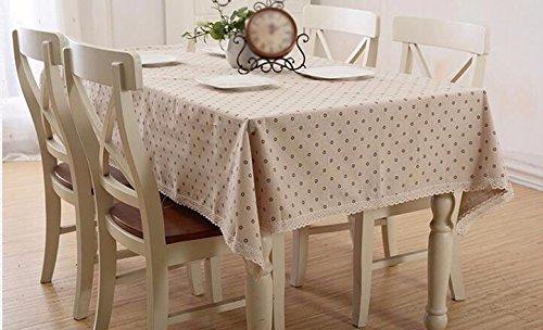 Tabgw Nappe rectangulaire salle à manger drap de coton couverture en tissu Garden Hotel Cafe Restaurant Accessoires pour la maison Style minimaliste brown 110X170cm