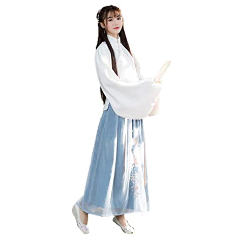 YCWY Vestido Chino, Hanfu Bordado Vintage para Mujer Traje ...