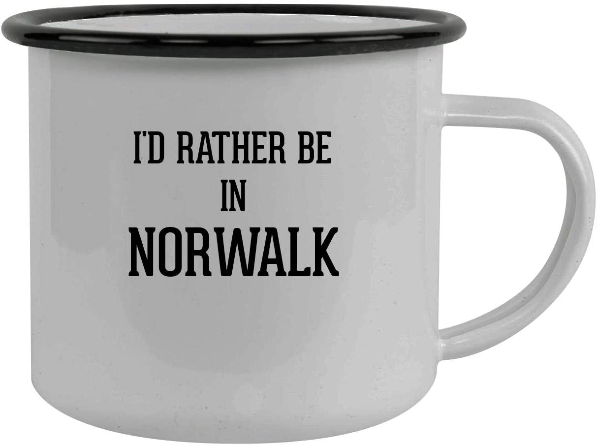I'd Rather Be In NORWALK - Stainless Steel 12oz Camping Mug, Black