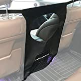 Pet Net Barrier -- Lifepul(TM) Dogs Backseat Barrier Mesh Obstacle Dog Car Fence Mesh, to Keep Your Pets and Drivers Safety inTravel, One Size Fit Most & Easy to Install for Car,SUV,Truck,