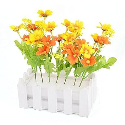 eDealMax Tela hogar de DIY Tabla de escritorio decorativo de Emulational Flor de la Margarita Artificial