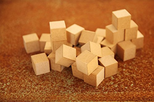 Natural Wood Blocks for Paint, DIY Cubes, Solid, Hand made, Puzzel