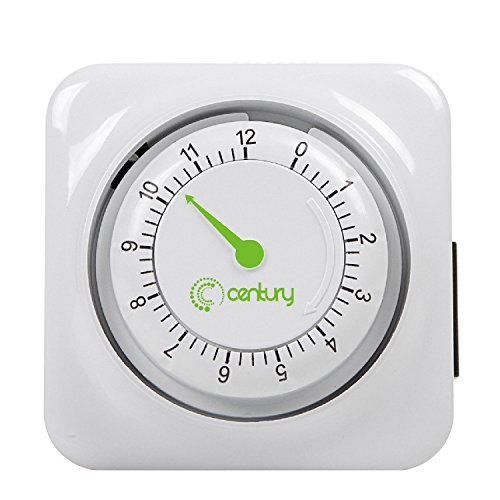 Century 12 Hour Mechanical Countdown Timer with Grounded Pin - Energy -