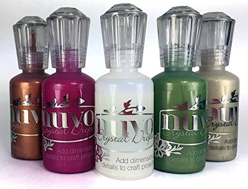 Nuvo Crystal Drops - Seasonal Set - Rubarb Crumble, Bottle Green, Copper Penny, Pale Gold & Morning - Mousse Gloss