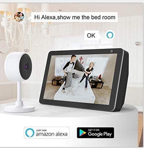 Unterst/ützt Unterst/ützt Cloud-Speicher /& SD-Karte /Überwachungskamera Innen Littlelf Babyphone mit Kamera WLAN IP-Kamera mit 2-Wege-Audio,1080P /Überwachungskamera f/ür Haustier//Baby///Ältere