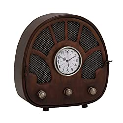 Benzara 97275 Fascinating Styled Berlin Metal Table Clock by Benzara