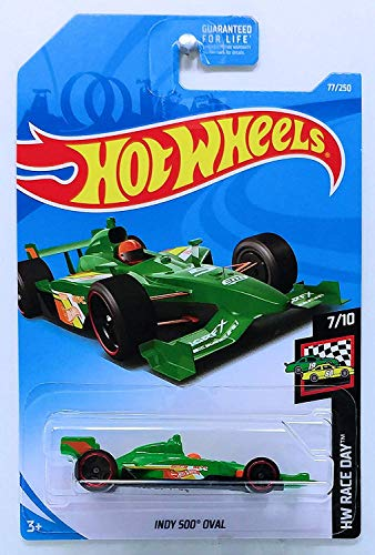 (Hot Wheels 2019 Hw Race Day: Indy 500 Oval (Green) - International Card)