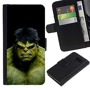 """JackGot ( El Monstruo Verde"""" ) Sony Xperia Z1 Compact / Z1 Mini (Not Z1) D5503 la tarjeta de Crédito Slots PU Funda de cuero Monedero caso cubierta de piel"""