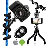 Nialik Flexible Tripod For Your Camera, Phone, Flashlight or GoPro, Lightweight and Compact Professional Stand In Your Pocket. Can Hold Up To 10 Lbs