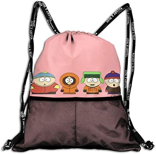 South Park サウスパーク9 ナップサック アウトドア ジムサック 防水仕様 バッグ 巾着袋 スポーツ 収納バッグ 軽量 バッグ 登山 自転車 通学・通勤・運動 ・旅行に最適 アウトドア 収納バッグ 男女兼用 ジムサック バック