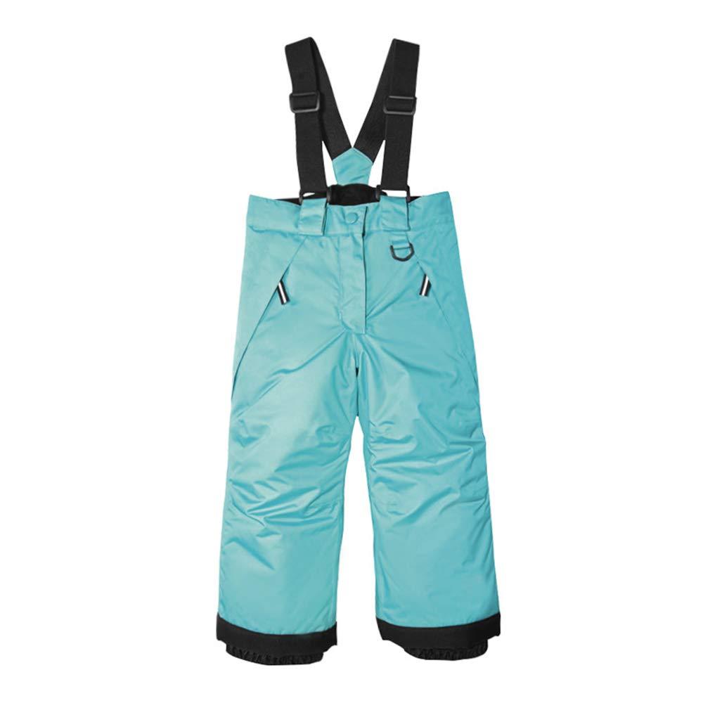 UDIY Boys Girls Outdoor Waterproof Ski Bib Snow Pants Suspenders Trousers for Kids 2-3 Years by UDIY