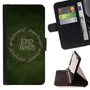 - cool trilogy lord green gold - - Prima caja de la PU billetera de cuero con ranuras para tarjetas, efectivo desmontable correa para l Funny HouseFOR Apple Iphone 5C