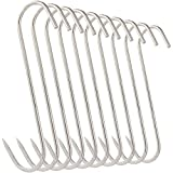 10Pcs 5 Inches Meat Hooks, Stainless Steel