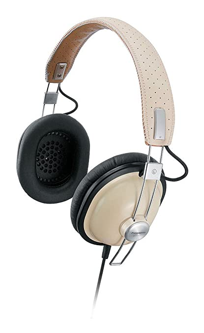 Panasonic- Rp-htx7ae-c Retro Style Monitor Headphones - Cream