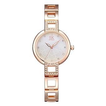 8b0925b3fe2 SK Elegant Women Watches Diamond Face Crystal Luxury Female Watch Relogio  Feminino (K0019-Rose