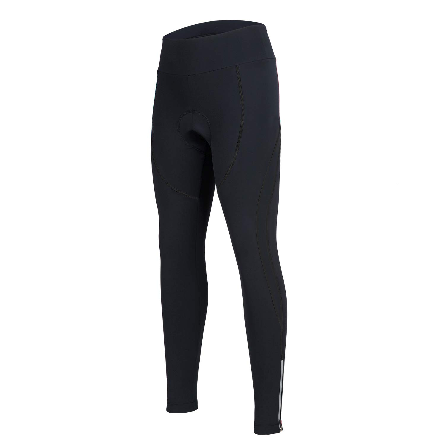 Women's Cycling Pants 3D Padded Compression Tight Long Bike Bicycle Pants with Wide Waistband (Black,XL) by SPOEAR