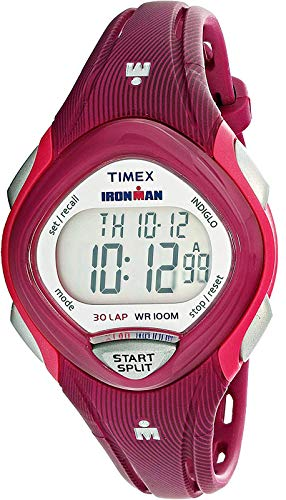 Timex Women's Ironman Sleek TW5M09000 Pink Plastic Quartz Sport Watch