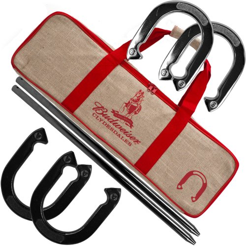 Budweiser Horseshoe Set with Carrying Case from Budweiser
